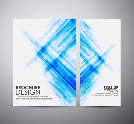 パンフレット ビジネス デザイン テンプレートを抽象化またはロールアップします。ベクトル図