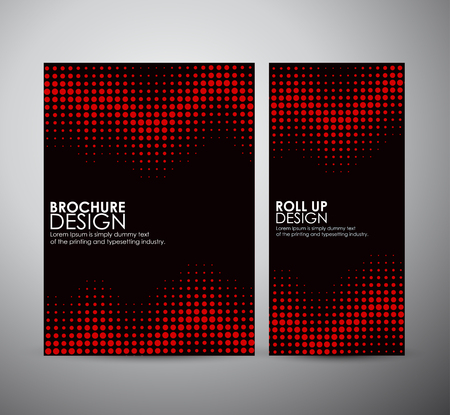 Abstract dots. brochure business design template or roll up. Vector illustration