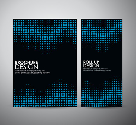 Abstract dots. brochure business design template or roll up. Vector illustration Imagens - 45796384