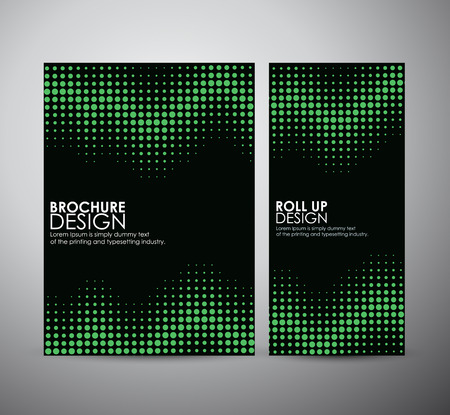 vector raster background: Abstract dots. brochure business design template or roll up. Vector illustration