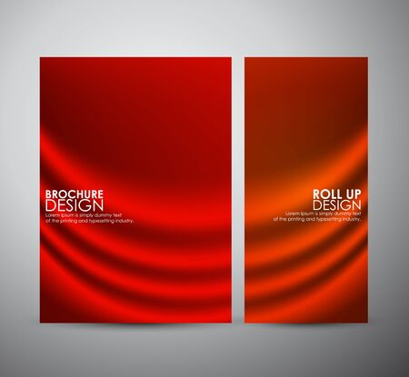 roll curtains: Abstract fabric texture background. Vector illustration Illustration