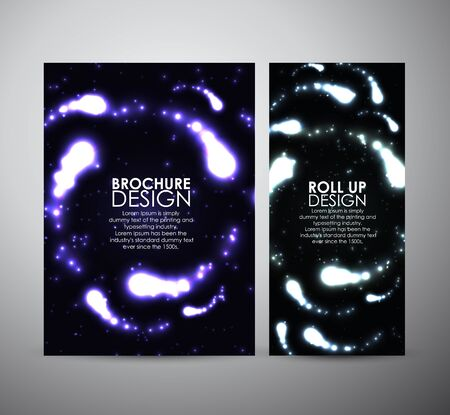 flare up: Brochure business design template or roll up. Abstract digital flare frame