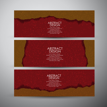 torn paper background: Vector banners set with Abstract Torn paper background