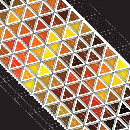 trendy tissue: Triangle pattern with shadow. Vector background. Geometric abstract texture.