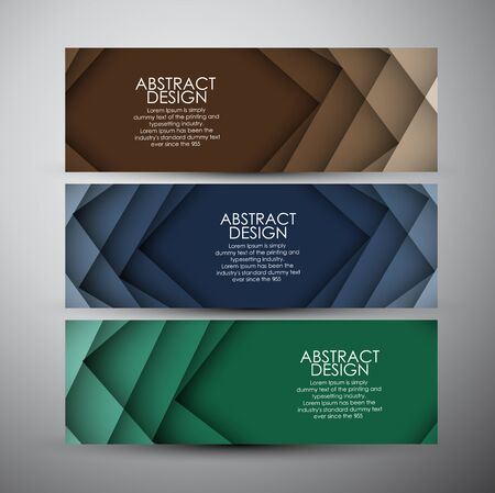 corporate background: banners set background.