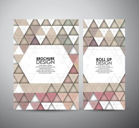 trendy tissue: Abstract brochure Seamless triangle pattern with shadow Illustration