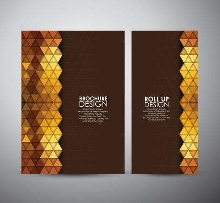 trendy tissue: Abstract brochure triangle pattern with shadow