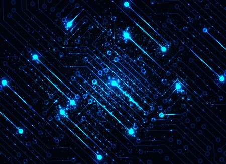 luces azules: Abstract blue lights technology background