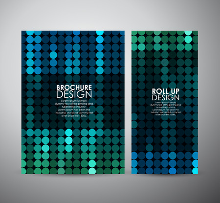 a glamour: Brochure business design template or roll up. Abstract Circle