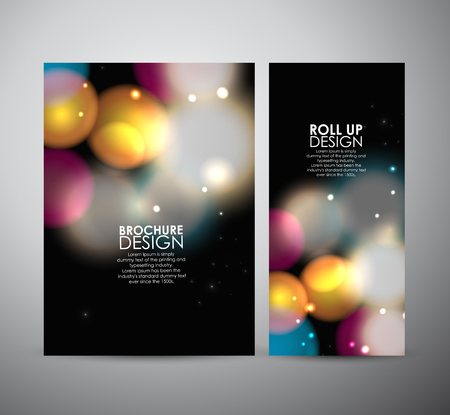 glowing: Abstract brochure bokeh. business design template or roll up. Vector illustration