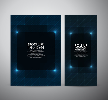 digital design: Brochure business design abstract Modern pattern stylish texture background template or roll up. Illustration