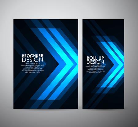 Brochure business design template or roll up. Vector Illustration Illustration