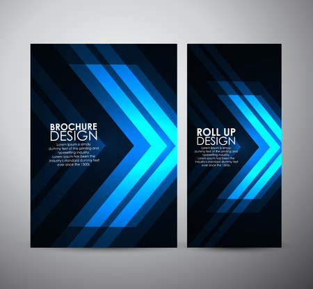Brochure business design template or roll up. Vector Illustration Vectores