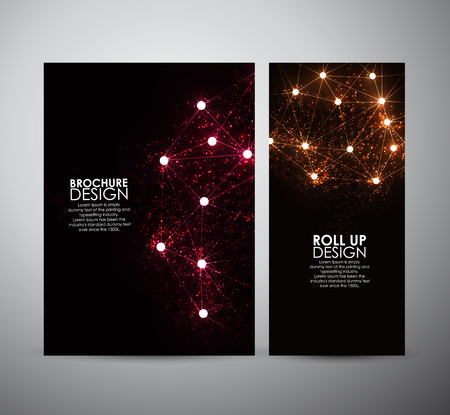 wallpaper background: Abstract hi-tech brochure business design template or roll up. Vector illustration