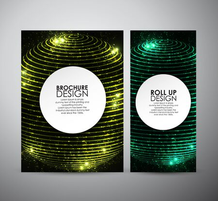 elegant backgrounds: Abstract hi-tech brochure business design template or roll up. Vector illustration