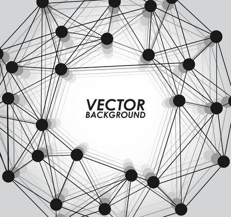 water background: Molecule vector illustration background. Illustration