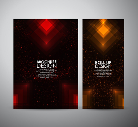 Abstract squares shining pattern. Brochure business design template or roll up. Vector illustration