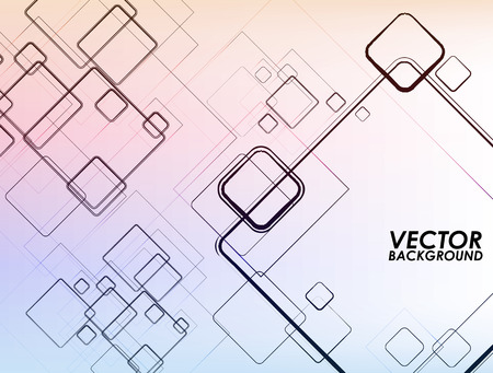 Abstract squares vector background. Illustration