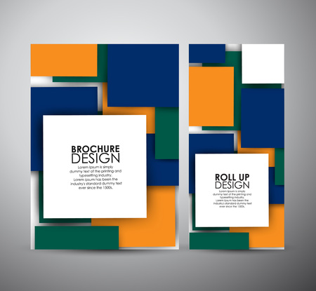 brochure cover: Abstract brochure business design template or roll up. Vector illustration Illustration