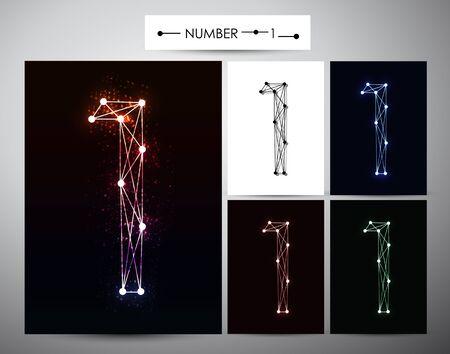 brilliants: Molecule Number  1 Trendy alphabet fonts of sparkling brilliants