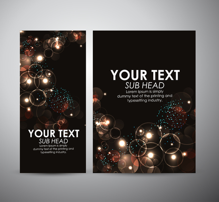 brilliant: Abstract Circle bokeh. Graphic resources design template or roll up.