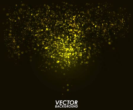 shiny background: Abstract bokeh digital background. Graphic resources design template. Vector illustration Illustration