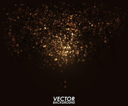 Abstract bokeh digital background. Graphic resources design template. Vector illustration Ilustração