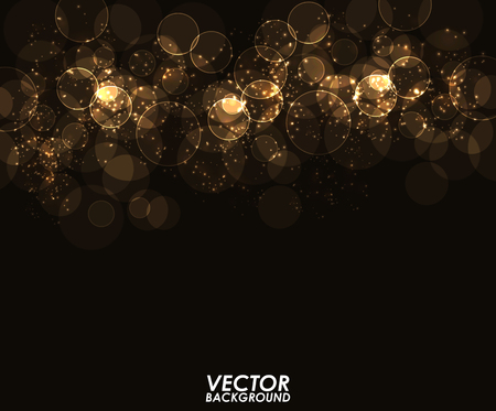dark backgrounds: Abstract modern bokeh digital - Vector Background.