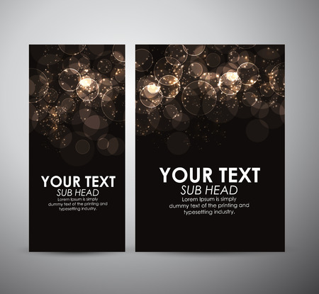 Abstract Circle bokeh. Graphic resources design template or roll up.