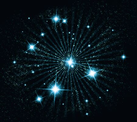 twinkling: Abstract background with twinkling stars vintage. Vector illustration.