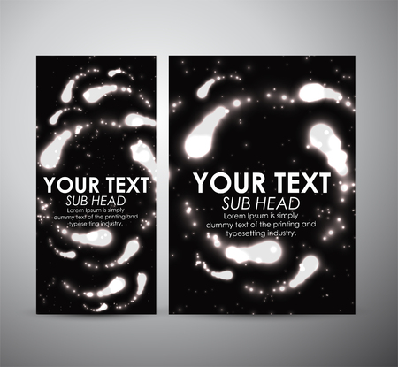 flare up: Abstract digital flare frame. Brochure business design template or roll up. Illustration