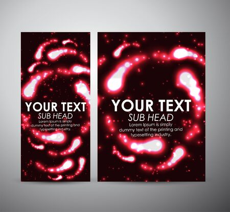 flare up: Abstract red digital flare frame. Brochure business design template or roll up.