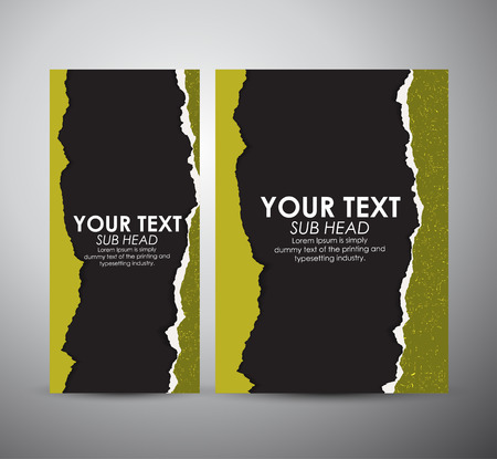 deterioration: Abstract Torn Paper with space. Graphic resources design template. Vector illustration.