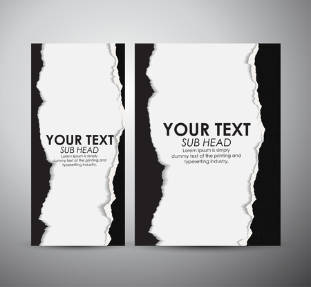 puncture: Abstract Torn Paper with space. Graphic resources design template. Vector illustration.