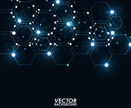 bokeh background: Abstract modern geometric shining pattern digital - Vector Background. Illustration
