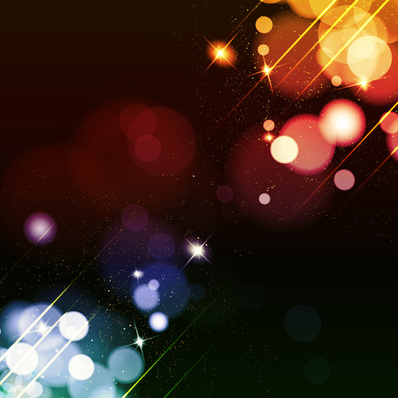 Abstract background with twinkling stars vintage. Vector illustration.