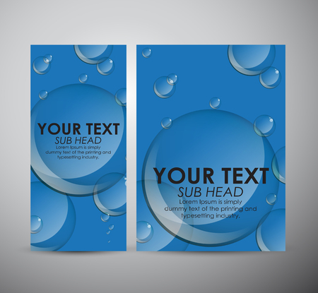 soap reflection: Brochure business design Abstract bubbles background.