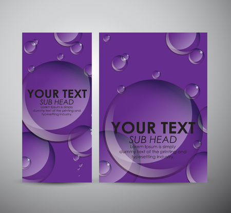 blow up: Brochure business design Abstract bubbles background.