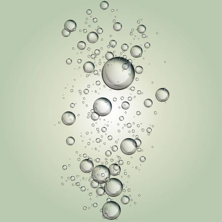 soap bubble: Water soap bubble rising on clear background. Illustration