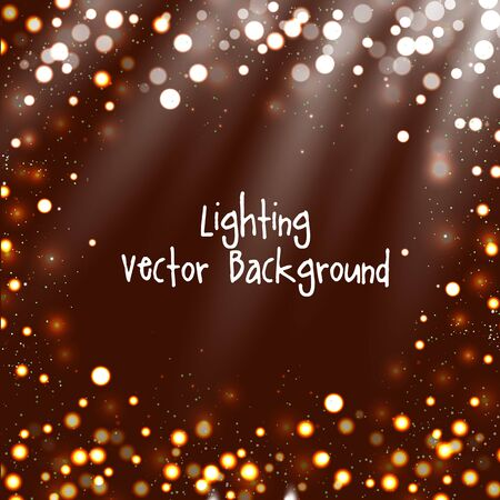 twinkling: Abstract background with twinkling stars vintage and bokeh. Vector illustration.
