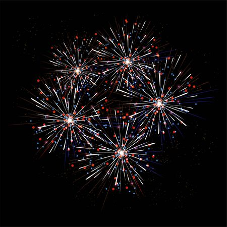 holiday background: Vector Holiday Fireworks Background.