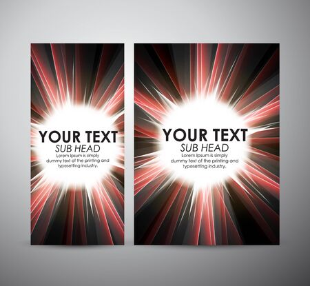 Brochure business design Abstract digital background with a burst, lens flare.