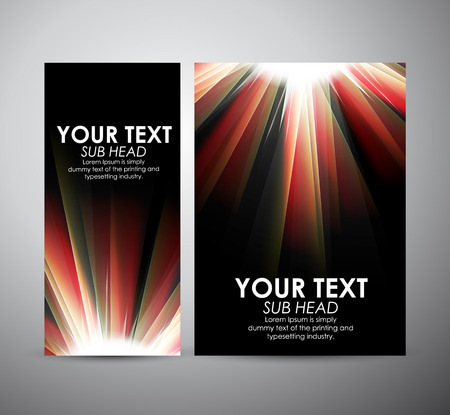 flare up: Brochure business design Abstract digital background with a burst, lens flare.
