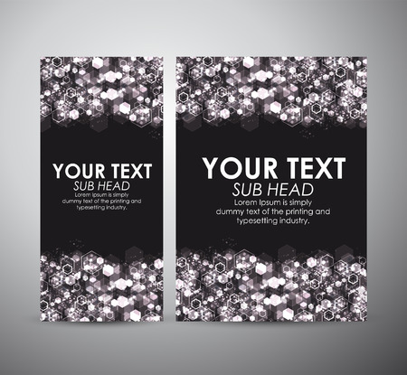 Abstract hexagons background on Brochure business design template or roll up. Illustration