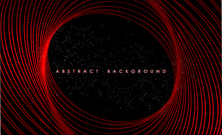 Abstract red lights wave pattern technology background. Иллюстрация