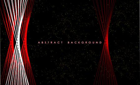 Abstract red lights wave pattern technology background. Ilustração