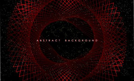 Abstract modern geometric shining pattern digital - Vector Background. Ilustração