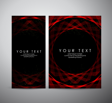 Brochure business design. Abstract red shining pattern digital - Vector Background.