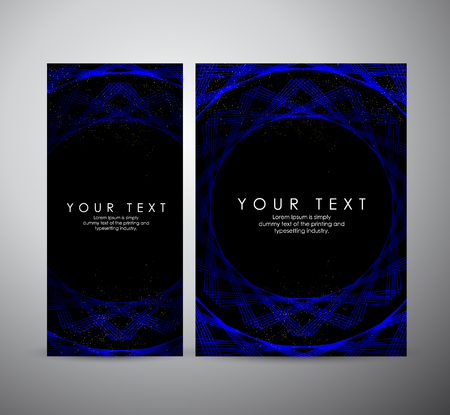 Brochure business design. Abstract blue shining pattern digital - Vector Background.