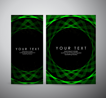 Brochure business design. Abstract green shining pattern digital - Vector Background.